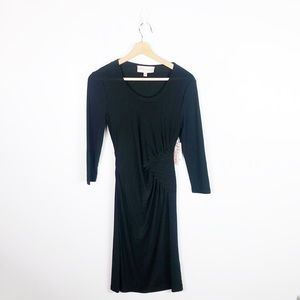 NWT Philosophy Black Side Ruched Dress
